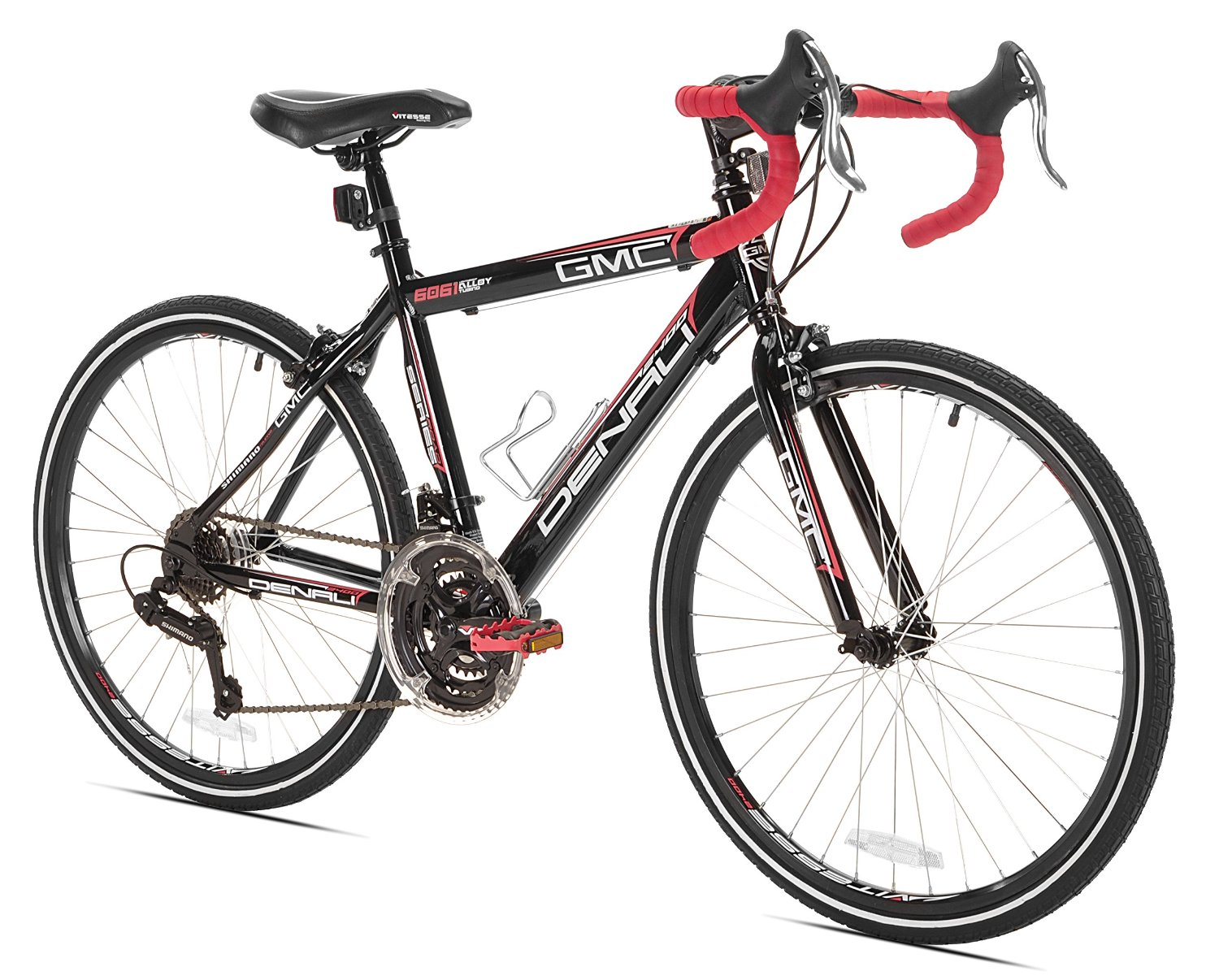 GMC Denali Road Bike, Black/Red, 24-Inch
