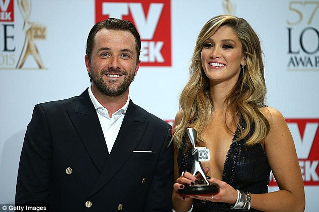 Return to the small screen:Delta recently started filming for her new role in the hit series House Husbands. Pictured with Darren McMullen at the 2015 Logie Awards