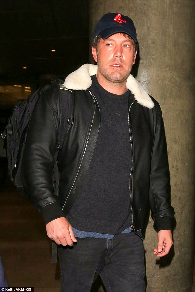 Transatlantic commute: The 44-year-old Hollywood star looked understandably weary given it was his second long-haul flight in five days