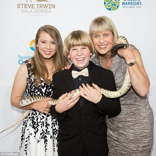 Private time: Bindi, Terri and Robert Irwin are set to keep their movements for this weekend private and wont be making an appearance at an Australia Zoo Father's Day event on Sunday, which coincides with the 10th anniversary  of Crocodile Hunter Steve Irwin's death