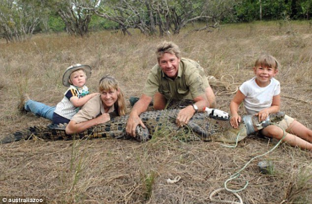 Memories: A photo shared on the Australia Zoo Instagram page by Steve's daughter, showed a younger Bindi posing with a captured crocodile alongside Steve, mother Terri and brother Robert