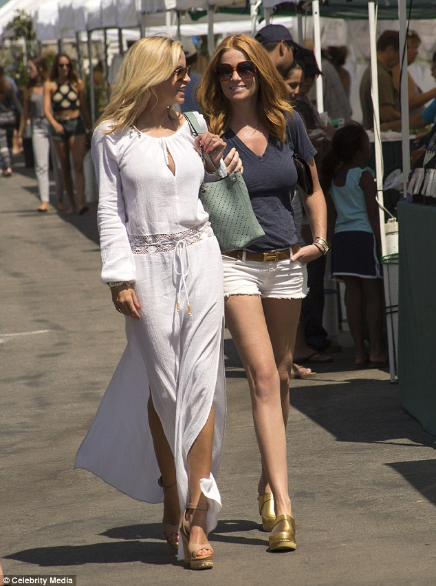 A far cry from Albert Square! Patsy Palmer, 44, was spotted enjoying the sunshine with unlikely gal pal Camille Grammer at Malibu's Farmer's Market on Friday