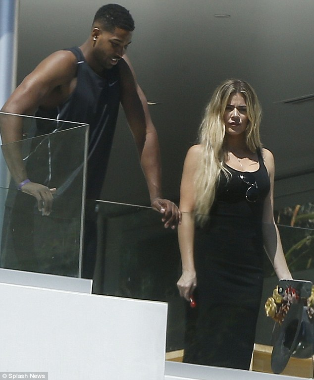 New man? Khloe Kardashian and Tristan Thompson, who plays for the Cleveland Cavaliers, were pictured together in Beverly Hills on Thursday
