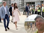 The Duke and Duchess of Cambridge share a joke with construction workers as they visit Nansledan, a 218-hectare site that will provide future business and housing for the local area  in Newquay as part of their day-long tour of Cornwall. PRESS ASSOCIATION Photo. Picture date: Thursday September 1, 2016. See PA story ROYAL Cambridges. Photo credit should read: Chris Jackson/PA Wire