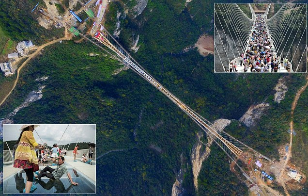 World's highest glass bridge in China closes due to 'overwhelming volume of tourists'