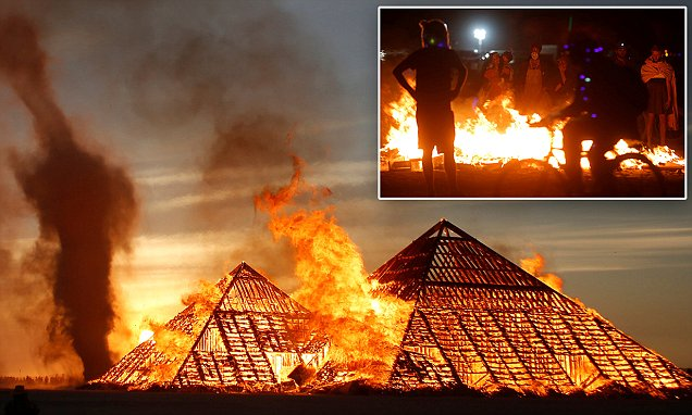 Burning Man enters final days as installations set on fire