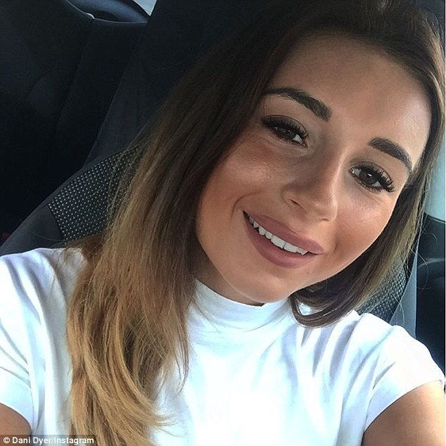 Pre-wedding jitters!Dani Dyer, 20, admitted she's feeling nervous ahead of her parents impending wedding as she posted a smiley selfie