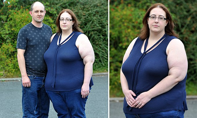 Too fat to foster: Student, 32, who weighs 21 stone is told she is too big to look after
