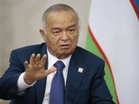 FILE-In this file photo taken on Friday, July 10, 2015, Uzbekistan's President Islam Karimov gestures while speaking to Russian President Vladimir Putin during the SCO (Shanghai Cooperation Organization) summit in Ufa, Russia. The Interfax news agency Friday Sept. 2, 2016 cites an Uzbek government statement saying President Islam Karimov is dead. (AP Photo/Ivan Sekretarev, file)