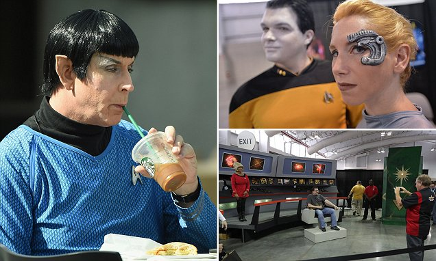 Who knew Vulcans liked Starbucks? Mr Spock is spotted indulging at Star Trek convention in