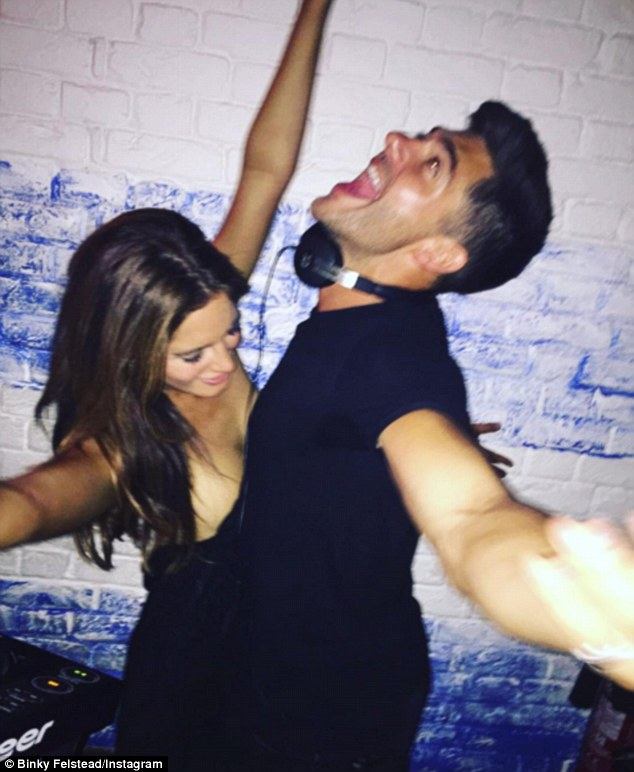 Wild night out!Binky seems to have found the perfect party pal in her ex boyfriend Alex Mytton, with the two hitting a London club on Wednesday night