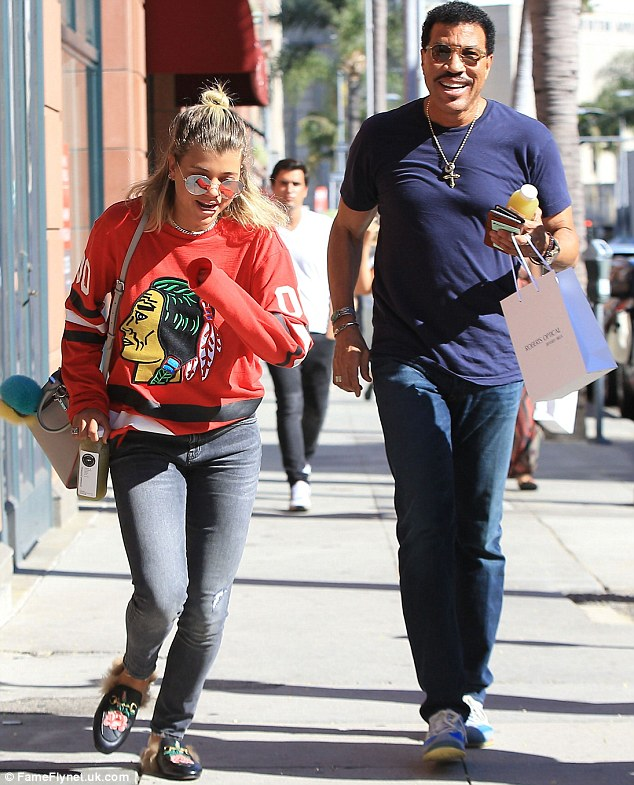Family time: On Friday, Lionel Richie and his daughter Sofia were spotted on a shopping trip in West Hollywood