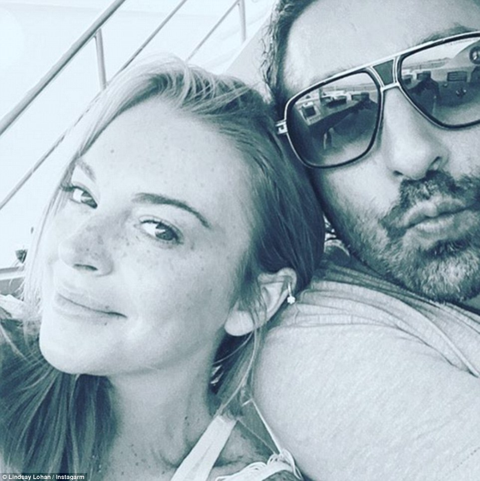 Strike a pose! Lindsay and her handsome male pal later took to Instagram, saying: 'Friends'
