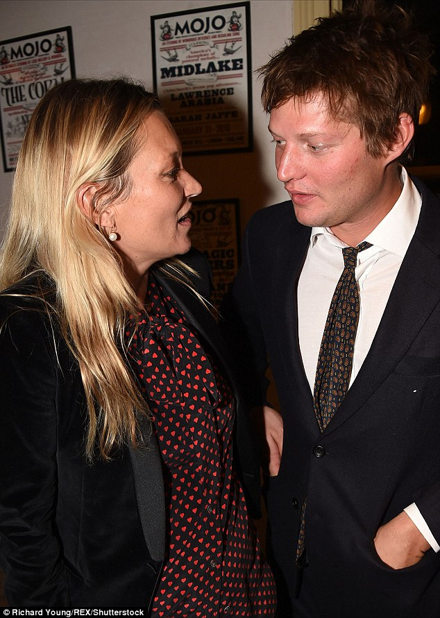 Loved up: Kate and her rumoured fiance Nikolai von Bismarck attended the Britten in Brooklyn afterparty at Wilton's Music Hall in London on Thursday