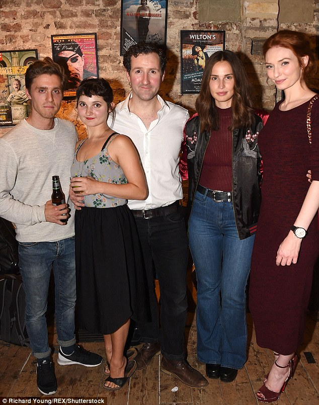 Famous fans: Jack, Ruby and  John were joined by Heida Reed and Eleanor Tomlinson from TV  show Poldark