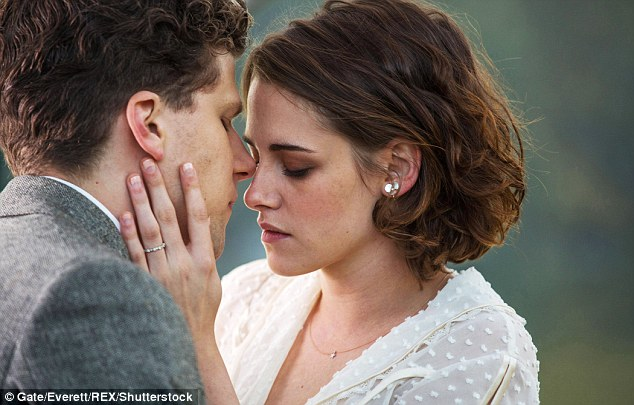 Close bond: Kristen revealed filming romantic scenes with Jesse Eisenberg was far from awkward, despite them being such good friends in real life