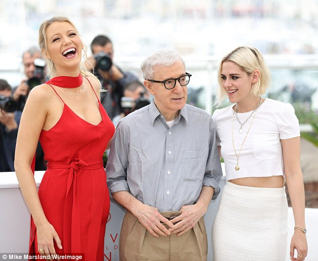 Highly-anticipated romance: Woody Allen's new film, which also stars Blake Lively (left), had its premiere at the Cannes Film Festival in May