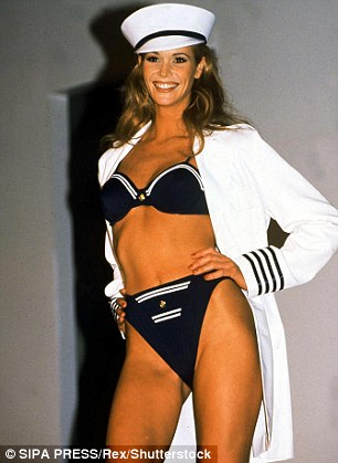 Vintage snap: Elle Macpherson shows off her famous physique in a bikini snap taken years earlier