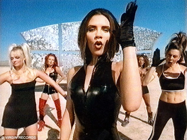 The winning shot! The story of David and Victoria's beginnings are well known as he previously revealed after seeing her in the video for the Spice Girls' 1996 hit Say You'll Be There (pictured)