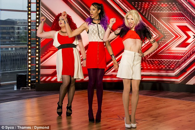 Really?Louis confused drag queen foursome The Vixens, by claiming he'd 'seen it all before'