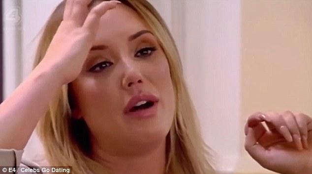 Moving on:Breaking down in tears while talking to the show's dating experts Nadia Essex and Eden Blackman, Chartlotte sobbed: 'My last relationship was so s**t'