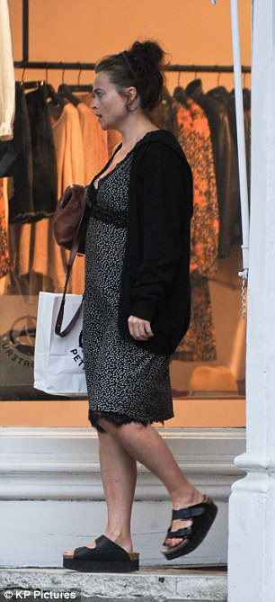 Retail therapy: The star headed out to hit the shops