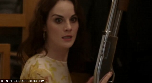 Who's that girl? Michelle Dockery finally shook off her Downton Abbey alter-ego as the new trailer for her TV drama Good Behavior was released