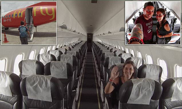 Couple discover they're the only ones on a Firfly flight and dance across the aisle