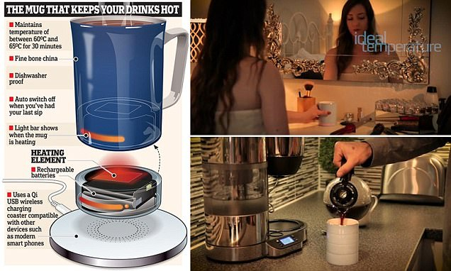 Smart mug keeps your tea at the perfect temperature for 30 minutes