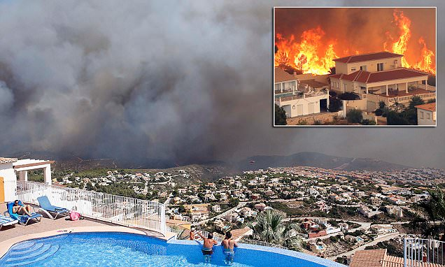 British tourists flee Spanish wildfire in Xabia 'started by teenagers'