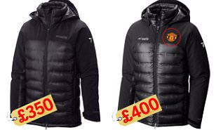 Manchester United club badge adds £50 to cost of 'official outdoor apparel' jacket