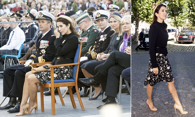 Princess Mary and Prince Frederick of Denmark attend service for Danish soliders
