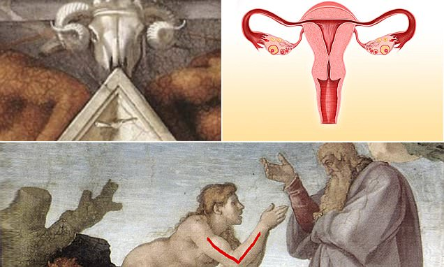Michelangelo may have concealed symbols for female anatomy in Sistine Chapel