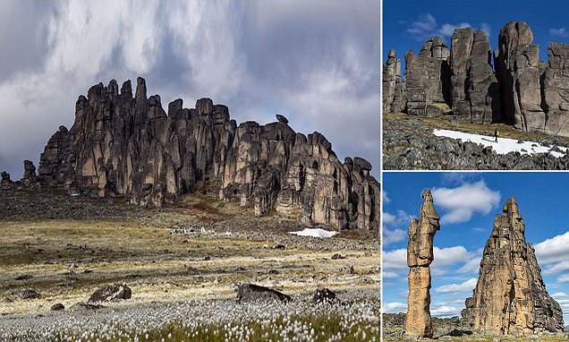 Welcome to 'granite town': The 65ft-tall rock formations just discovered in Siberia