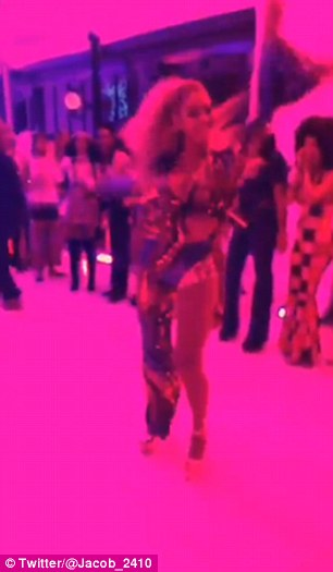 She's got the moves! Beyonce partied the night away in the company of her best friends at her Soul Train-themed 35th birthday bash in New York City on Monday