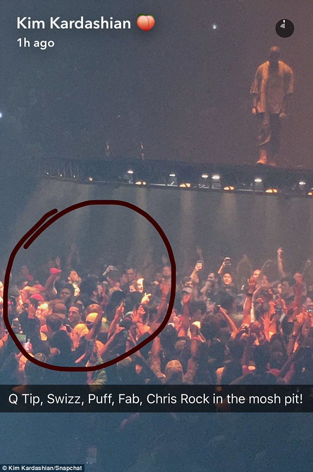 Famous crowd! All of Kanye's contemporaries made sure to make it to his concert