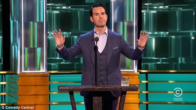 Usual tone: Jimmy Carr kept up the theme, describing Lowe as like a Ken Doll, in that he's plastic, and often the first thing teenage girls insert into their vagina