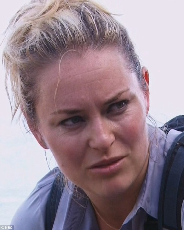 Loosening up: Risking her life alongside the self-styled survivalist seemed to open Lindsey up