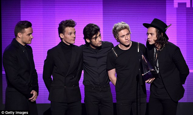 Back then: Zayn announced his departure from One Direction in March last year after five years in the group