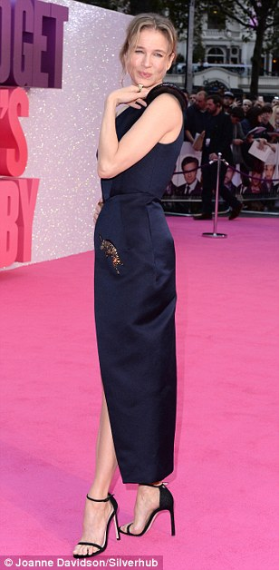 Stunning: It was the film that defined a genre, but Bridget Jones was back and as popular as ever on Monday evening as Renee Zellweger led the glamour at the London premiere of new film Bridget Jones's Baby