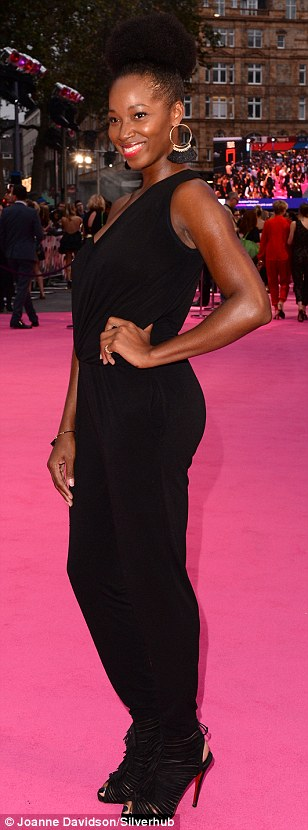 She's a Superstar: Singer and Loose Women panellist Jamelia looked typically sassy in a cinched black jumpsuit