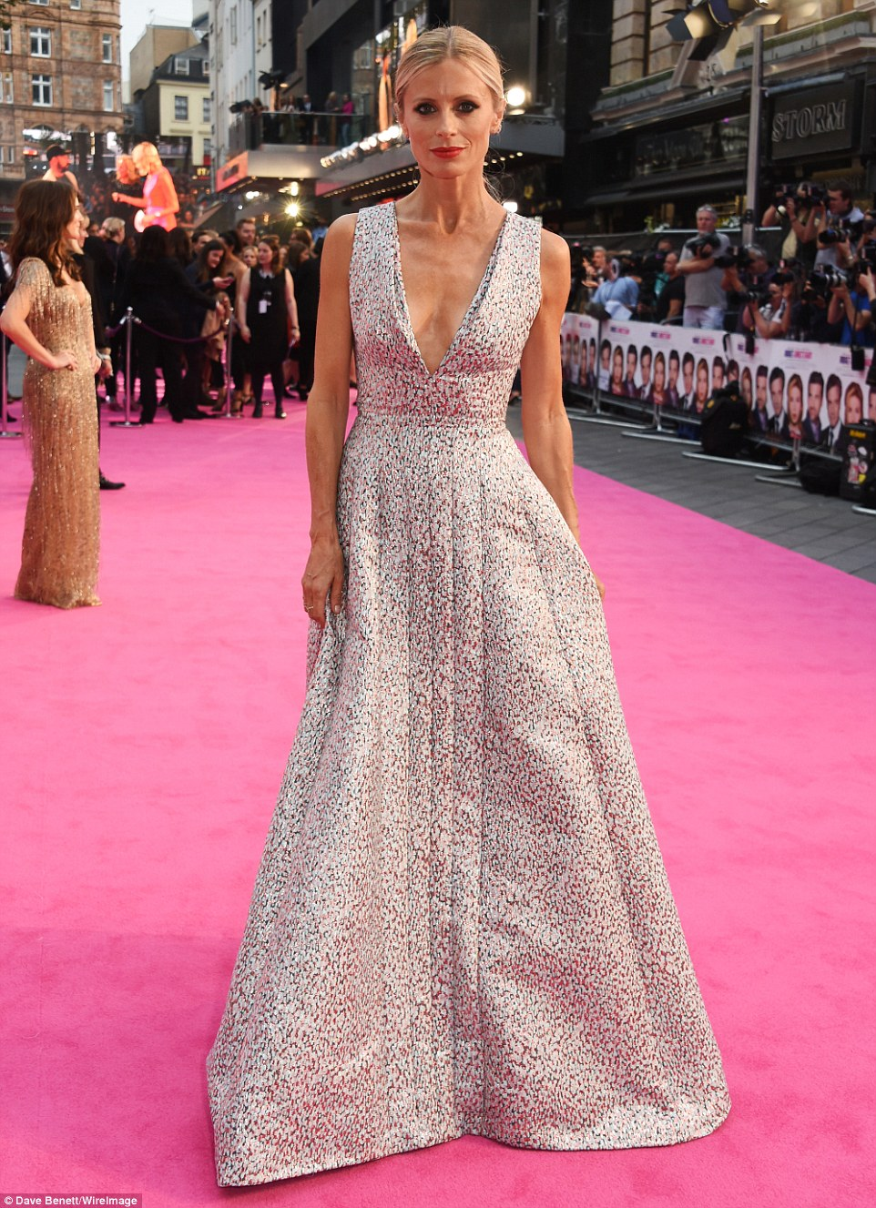Stunning in silver: Supermodel Laura Bailey was an eye catching sight on the pink carpet