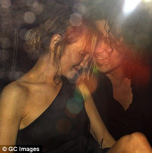 Up close and personal:Renée Zellweger and her beau Doyle Bramhall II did not limit their affections to the centre stage of the Bridget Jones's Baby premiere as they were seen later on Monday night putting on an extremely sweet display