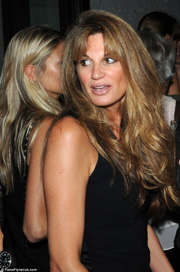Stunner:Jemima Khan looked sensational for the bash as she showed off her classic bouncy blowdry while sporting a stunning black jumpsuit