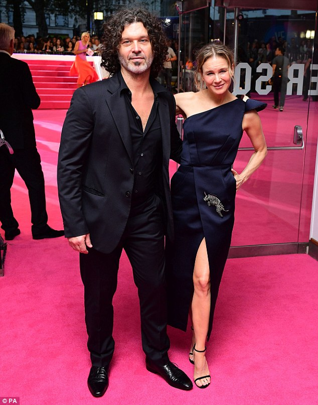 Her own Mr. Darcy: Renee's musician partner Doyle Bramhall II was on hand to support the actress