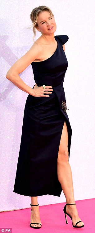 Elegant: The actress went for a lowkey undone hairstyle to let her statement gown do all the talking