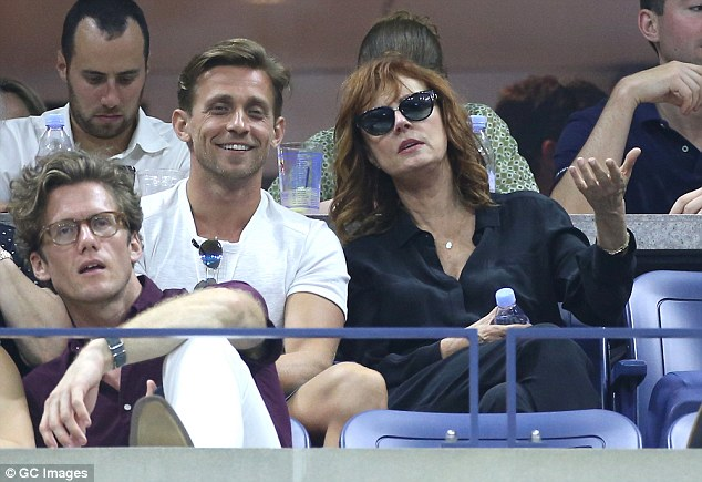 A-list accomodations: The actress and her friend were seated in the exclusive Emirates Suite to take in the action