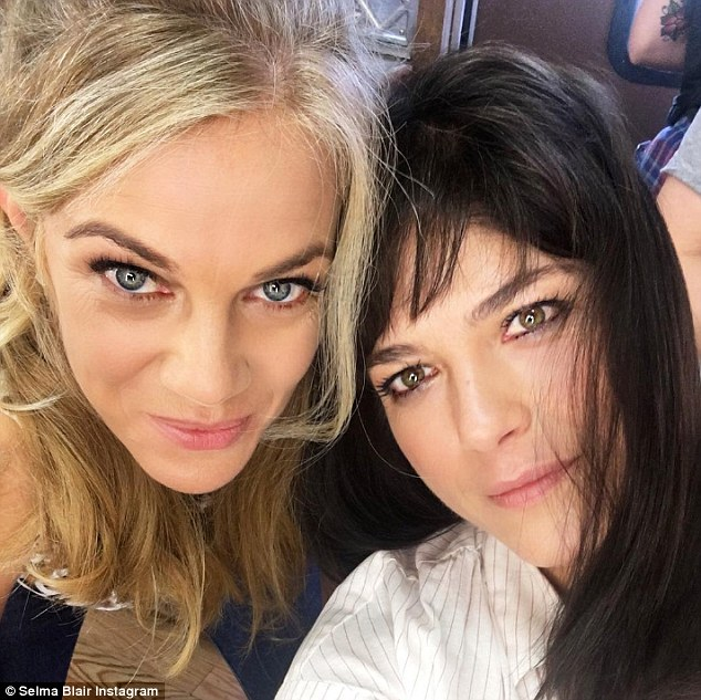 Back at it! Selma gave Legally Blonde fans a treat with this photo, which she captioned: 'Ok legally blonde fans!! Vivian and Claire together again in #momanddadfilm. Besties again!! @slemole we are still kickin it'