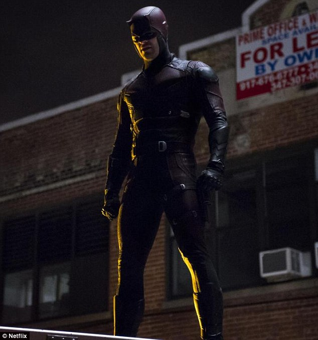 Star turn: Matt is filling Ben Affleck's shoes as blind crimefighter Matt Murdock