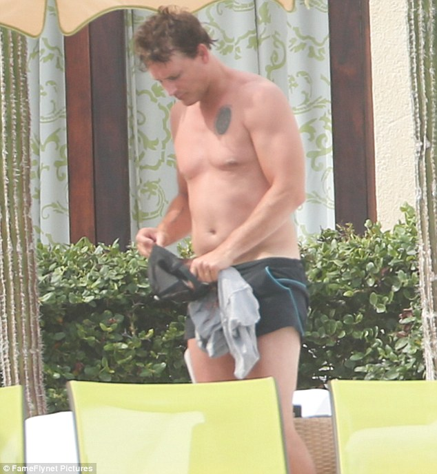 New ink: On Friday, Peter Facinelli, 42, showed off a new tattoo during a Mexican holiday withactress Lily Anne Harrison